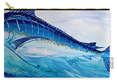 Abstract Marlin Carry-all Pouch