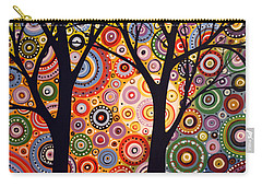 Abstract Modern Tree Landscape Distant Worlds By Amy Giacomelli Carry-all Pouch
