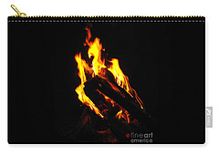 Carry-all Pouch featuring the photograph Abstract Phoenix Fire by Rebecca Margraf