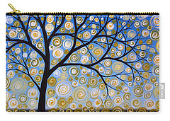 Abstract Tree Nature Original Painting Starry Starry By Amy Giacomelli Carry-all Pouch