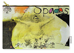 Carry-all Pouch featuring the mixed media Ace Of Spades 25-52 by Cliff Spohn