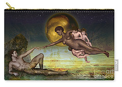 Carry-all Pouch featuring the digital art Adam Creation Revisited She Is Black by Rosa Cobos