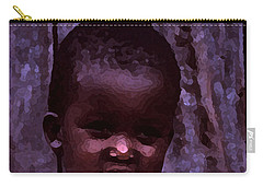 Carry-all Pouch featuring the pyrography African Little Girl by Lydia Holly