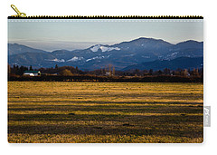 Carry-all Pouch featuring the photograph Afternoon Shadows Across A Rogue Valley Farm by Mick Anderson