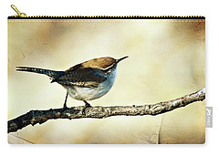 Aged Wren Carry-all Pouch by Lana Trussell