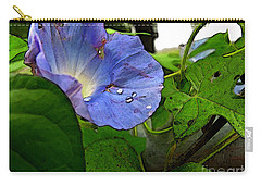 Carry-all Pouch featuring the digital art Aging Morning Glory by Debbie Portwood