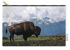 Alaskan Buffalo Carry-all Pouch by Katie Wing Vigil