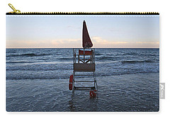 Carry-all Pouch featuring the photograph Alassio Sunset Facing East by Andy Prendy