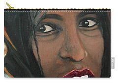 Carry-all Pouch featuring the painting Alem E. W. by Anna Ruzsan