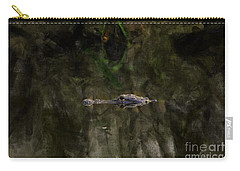 Carry-all Pouch featuring the photograph Alligator In Swamp by Dan Friend