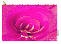 Carry-all Pouch featuring the photograph Amaryliss Close-up by Les Palenik