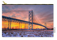 Ambassador Bridge Sunrise 1-16-2012  Detroit Mi Carry-all Pouch
