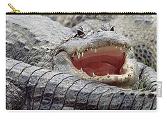 American Alligator Alligator Carry-all Pouch by Tim Fitzharris