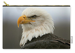 Carry-all Pouch featuring the photograph American Bald Eagle Portrait by Myrna Bradshaw