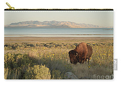 Carry-all Pouch featuring the photograph American Bison Antelope Island Utah by Doug Herr