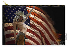 Carry-all Pouch featuring the painting American Cowgirl by Tbone Oliver