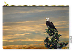 Carry-all Pouch featuring the photograph American Eagle Sunset by Dan Friend