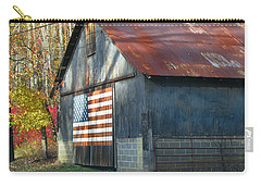 Carry-all Pouch featuring the photograph Americana Barn by Clara Sue Beym