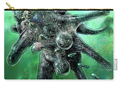 Carry-all Pouch featuring the digital art Amoeba Green by Russell Kightley