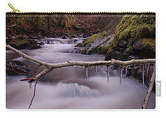 Carry-all Pouch featuring the photograph An Icy Flow by Gavin Macrae