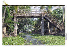 An Old Stone Bridge Over A Canal In Alleppey Carry-all Pouch by Ashish Agarwal