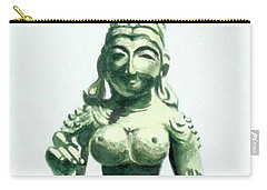 Carry-all Pouch featuring the painting An Oriental Statue At The Toledo Museum Of Art-4 by Yoshiko Mishina