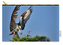 An Osprey Flying In With Breakfast Carry-all Pouch