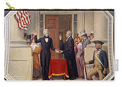 Carry-all Pouch featuring the photograph Andrew Jackson At The First Capitol Inauguration - C 1829 by International  Images