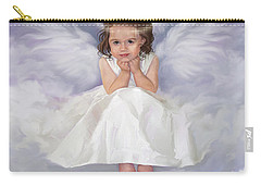 Carry-all Pouch featuring the painting Angel 2 by Rob Corsetti