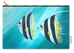 Angel Fish Carry-all Pouch by Bernadette Krupa