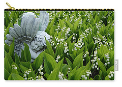 Angel In The Lilies Carry-all Pouch by Steven Clipperton