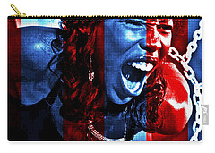 Carry-all Pouch featuring the photograph Anger In Red And Blue by Alice Gipson