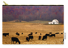 Carry-all Pouch featuring the photograph Angus And Oaks  Farm by Randall Branham