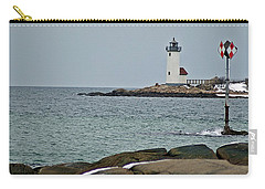 Annisquam Lighthouse Carry-all Pouch by Joe Faherty