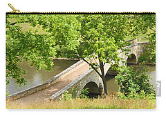 Carry-all Pouch featuring the photograph Antietam's Burnside Bridge by Cindy Manero