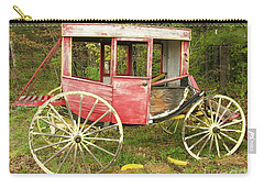 Carry-all Pouch featuring the photograph Old Horse Drawn Carriage by Sherman Perry