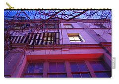 Carry-all Pouch featuring the photograph Apartment Building by Marilyn Wilson