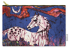 Appaloosa In Flower Field Carry-all Pouch