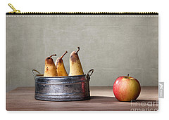 Apple And Pears 01 Carry-all Pouch by Nailia Schwarz