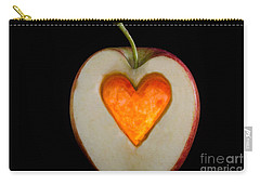 Apple With A Heart Carry-all Pouch
