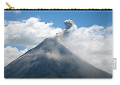 Carry-all Pouch featuring the photograph Arenal Eruption by Eric Tressler