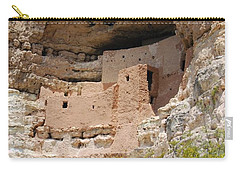 Carry-all Pouch featuring the photograph Arizona Cliff Dwellings by Judy Hall-Folde