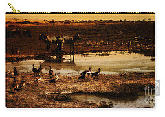 Carry-all Pouch featuring the photograph Around The Pond by Lydia Holly