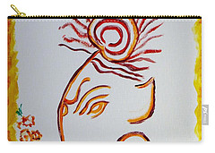 Carry-all Pouch featuring the painting Artistic Lord Ganesha by Sonali Gangane