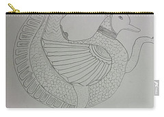 Carry-all Pouch featuring the painting Artistic Teapot by Sonali Gangane