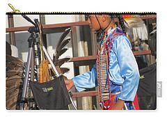 Carry-all Pouch featuring the photograph At Blackfeet Pow Wow 03 by Ausra Huntington nee Paulauskaite