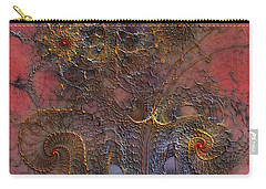 Carry-all Pouch featuring the digital art At The Moment by Casey Kotas