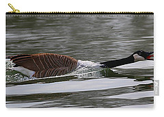 Carry-all Pouch featuring the photograph Attack Of The Canadian Geese by Elizabeth Winter