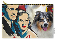 Australian Shepherd Art - Rebecca Movie Poster Carry-all Pouch