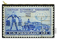 Carry-all Pouch featuring the photograph Automobile Association Of America by Andy Prendy